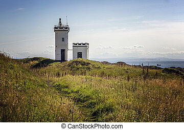 Evening view of Elie Lighthouse - Elie Lighthouse, in Fife...