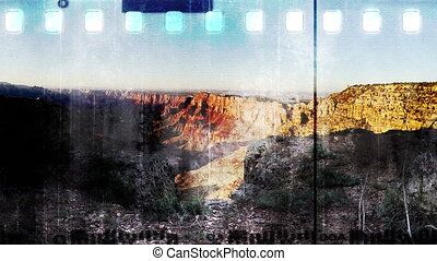 Grand Canyon Grunge Film - Grunge film Grand Canyon abstract...