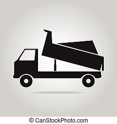Dump Truck symbol vector illustration