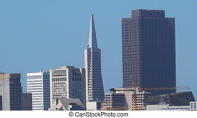 Landscape view of San Francisco financial center skylineIts...