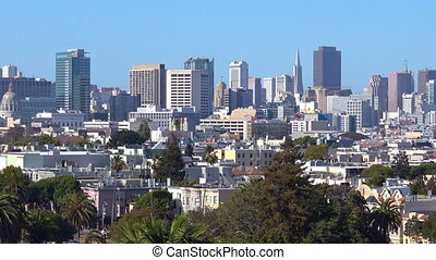 Urban view of San Francisco financial center skyline.It's...
