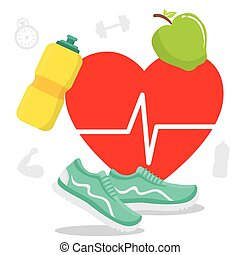 Fitness lifestyle design - Fitness lifestyle design, vector...
