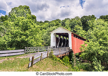 Hildreth Covered Bridge - Also known as the Hills Covered...