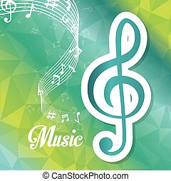 Music digital design. - Music digital design, vector...