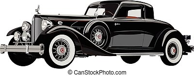 Silver shadow - Vector graphic illustration design of a old...