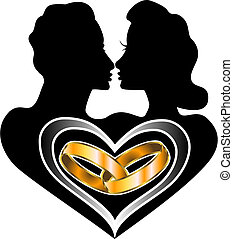 Marriage Love - Vector Marriage Icon Love Logo also...