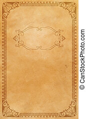 Old paper with decorative vintage border.