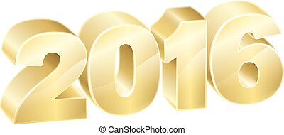 2016 Gold Sign