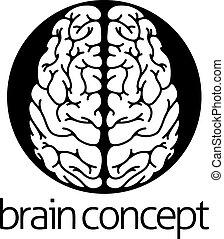 Human brain circle concept