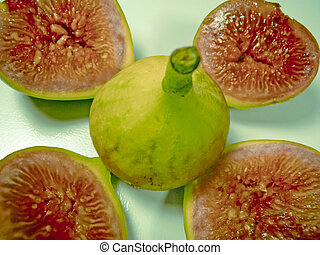 Chopped Fig fruit, Ficus carica L Moraceae with Pack of...