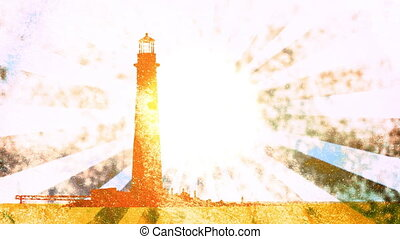 Grunge Light House Looping Animated Background