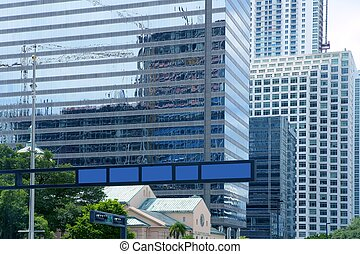 Downtown Miami urban city skyscrapers buildings