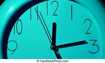 Icon of white clock with shadow. slow motion - Icon of white...