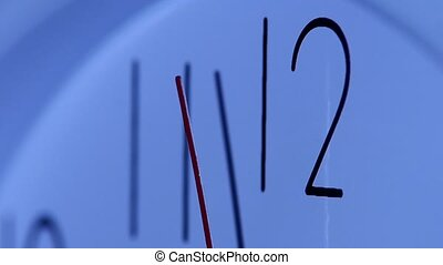 close up of an office clock slow motion - close up of an...