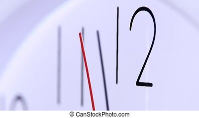 close up of an office clock. slow motion - close up of an...