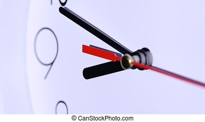 office close up of an office clock. slow motion - close up...
