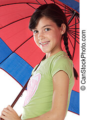 girl whit umbrella - adorable girl whit umbrella a over...