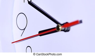 office close up of an office clock slow motion - close up of...