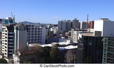 Panoramic view of Auckland CBD - Aerial view of Auckland...