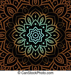 Vector vintage background. Mandala Indian decorative...