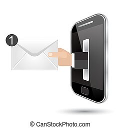 receiving mail by smart phone