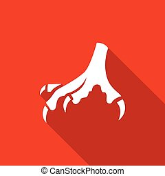Chicken feet vector icon - Vector Isolated Flat Icon...