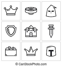 Kingdom icons. Vector Illustration - Kingdom Vector Isolated...