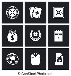Casino icons. Vector Illustration. - Vector Isolated Flat...