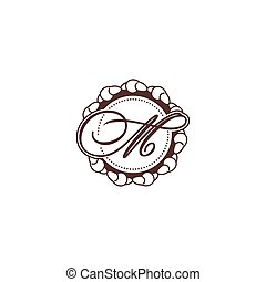 Sign of the letter C and M. Vector Illustration. - Branding...
