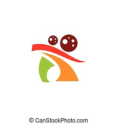 Pizza dancing sign. Vector Illustration. - Branding Identity...