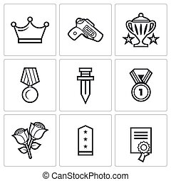 Reward icons Vector Illustration - Vector Isolated Flat...