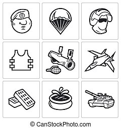 Russian Special Forces Icons Vector Illustration - Vector...