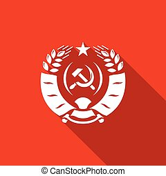 Coat of arms USSR icon. Vector Illustration. - Vector...