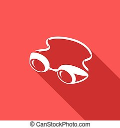 Swimming goggles icon. Vector Illustration. - Vector...