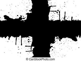 Abstract plus splatter black color design.illustration,vector