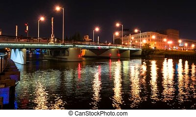 Milwaukee Wisconsin Lift Bridge - St Paul Avenue Vertical...