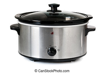 Crock Pot - Electric crock pot or slow cooker, isolated on...