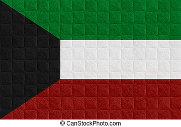 Kuwait flag - flag of Kuwait or Kuwaiti banner on check...