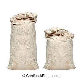 Big sacks isolated on white