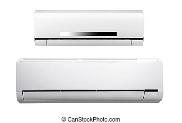 air conditioner - white air conditioner isolated on white