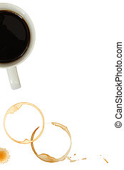 Coffee Mug and Stains - Coffee mug with stains and splashes...