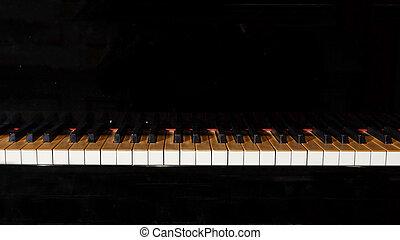 llaves,  piano, negro