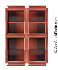 bookcase isolated