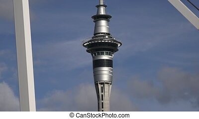 Auckland Sky Tower skyline NZL - Sky tower with Wynyard...
