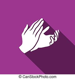 Applause, clapping icon. Vector Illustration - Vector Flat...