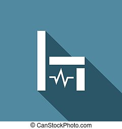 Electric chair icon. Vector Illustration. - Vector Isolated...