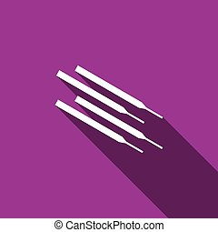 Welding electrodes icon. Vector Illustration. - Vector...