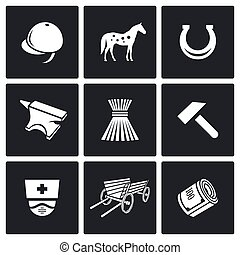 Stable icons Vector Illustration - Stable Vector Isolated...