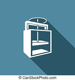 Old printing press icon. Vector Illustration - Vector...
