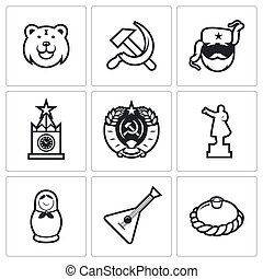 Russia icons Vector Illustration - Russia Vector Isolated...